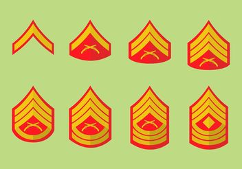Marine corps badges - Free vector #162553
