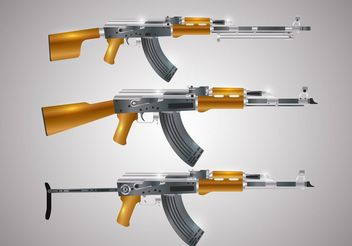Gun Shape Vectors - Free vector #162563