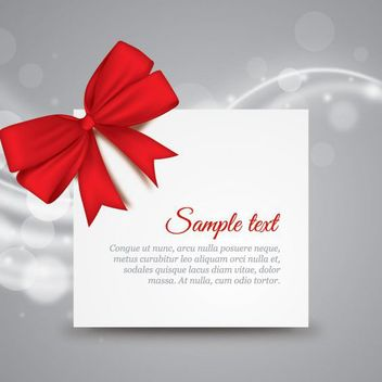 Gift Card Ribbon Template - vector gratuit #162613
