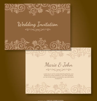Wedding Purple Invitation - vector #162683 gratis