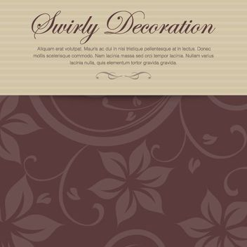 Decorative Floral Invitation Card - Kostenloses vector #162693