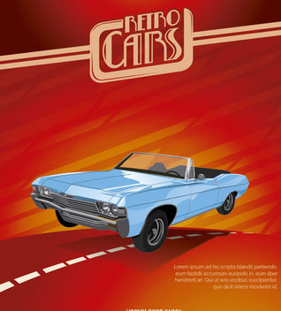 Vintage Car Poster - Free vector #162713