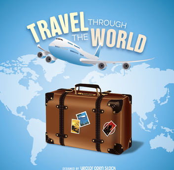Travel the world - vector gratuit #162753