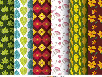 6 wallpaper patterns - vector gratuit #162813