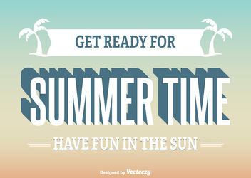 Vintage Summer Time Poster - Free vector #162843
