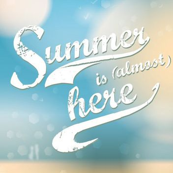 Grungy Summer Typography Background - vector gratuit #162933