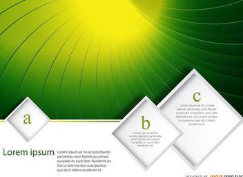 Green vortex text rhombs - Free vector #162943