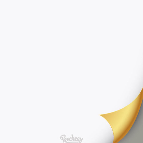 Golden Flip White Paper - Free vector #162963