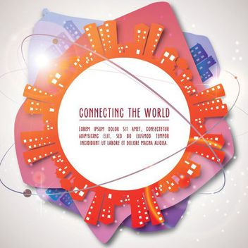 Connecting the World Background - vector gratuit #162983