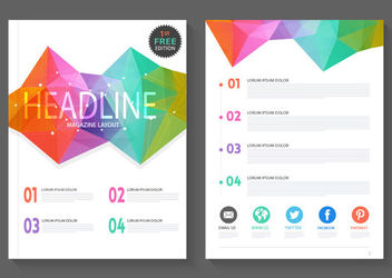 Abstract Colorful Polygonal Magazine Layout - Free vector #163033