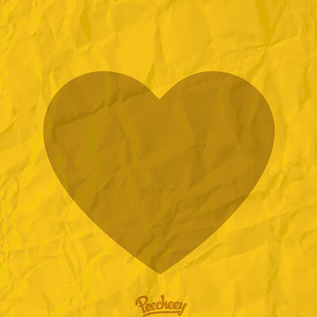 Heart on Squeezed Texture Paper - vector gratuit #163043
