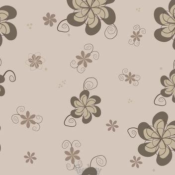 Vintage Funky Flower Seamless Pattern - Free vector #163093