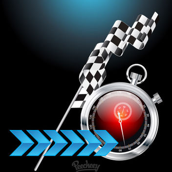 Creative Racing Background with Stopwatch - vector gratuit #163243