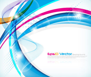 Colorful Abstract Waves Modern Background - Free vector #163263