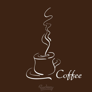 Hot Coffee Cafeteria Background - vector gratuit(e) #163333
