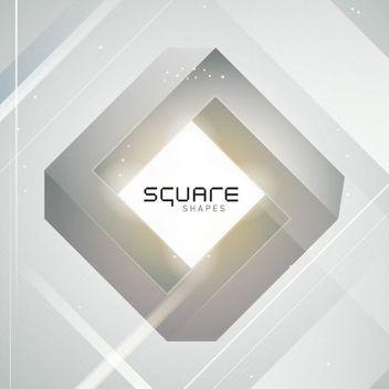3D Diamond Square Grey Background - бесплатный vector #163403