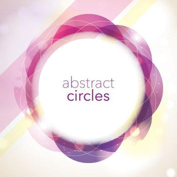 Circular Frame Abstract Colorful Background - vector gratuit #163423