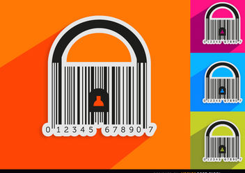 4 Codebar padlocks - Free vector #163493