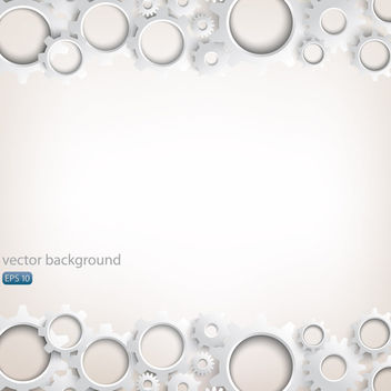 Muted Gears Frame Background - vector #163513 gratis