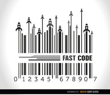 Rockets launch codebar background - vector gratuit #163553