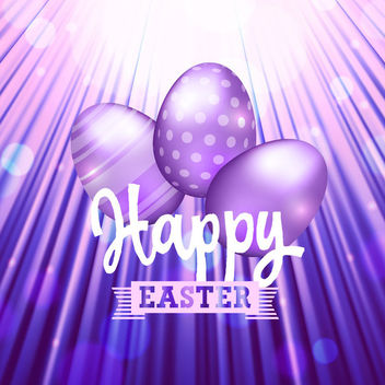 Purple Wrinkles Stunning Easter Background - Free vector #163603