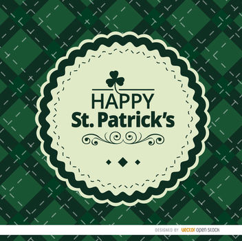 St. Patrick's rhombs background with seal - Free vector #163643