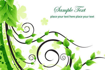 Green Flouring Swirls Background - vector gratuit #163723
