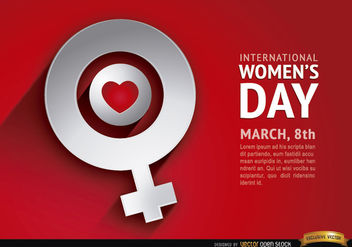 Women's day love female symbol background - Free vector #163873