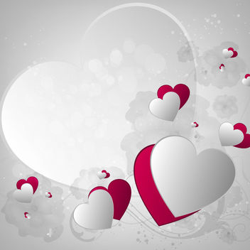 Creative Pink & Grey Hearts Valentine Background - Free vector #163893