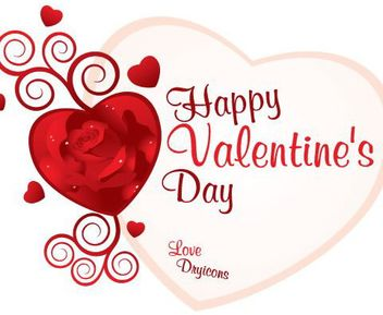 Decorative Floral Heart Valentine Card - Free vector #163903