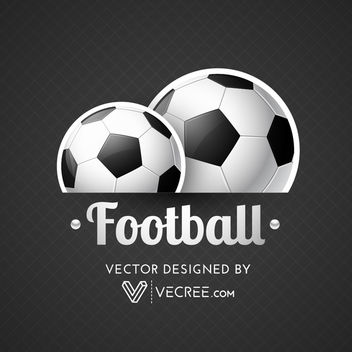Labeled Up Football Poster on Grid Texture - Free vector #164033