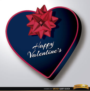 Valentine's Day heart shaped gift - бесплатный vector #164063