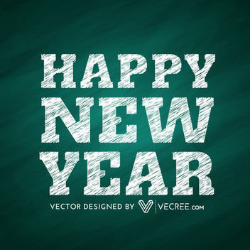 New Year Angling Grain Textured Typography - vector #164403 gratis