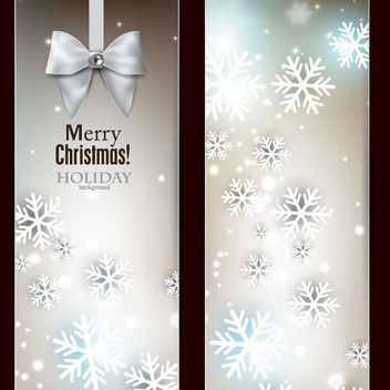 Stylish Bright Christmas Banners - vector gratuit #164863