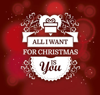 Romantic Christmas gift background - vector gratuit #165013