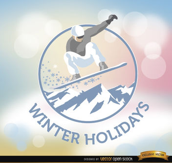Winter Holidays snowboard background - Free vector #165023