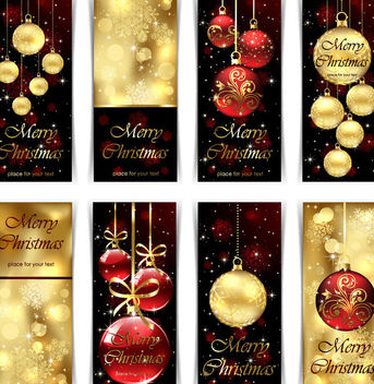 Creative Decorated Christmas Banner Pack - vector #165043 gratis