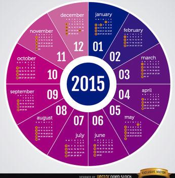 2015 Round calendar - Free vector #165053