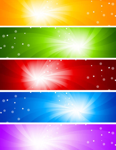 Multicolor Sun glare Banner Backgrounds - Free vector #165113