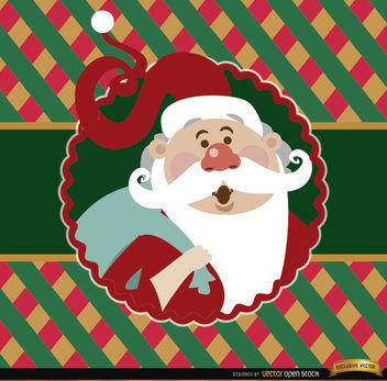 Santa Claus colorful card label - Free vector #165183