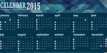 2015 polygonal blue calendar - vector #165363 gratis