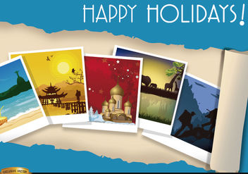 Vacations Travel photos background - Free vector #165613