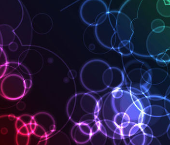 Glowing Bokeh Light Circles Background - Kostenloses vector #165673