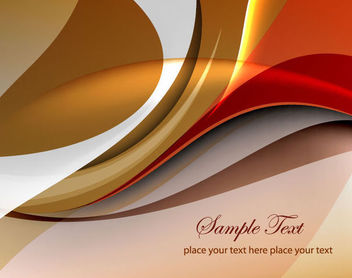 Stylish Multicolor Glossy Curves Background - Free vector #165713