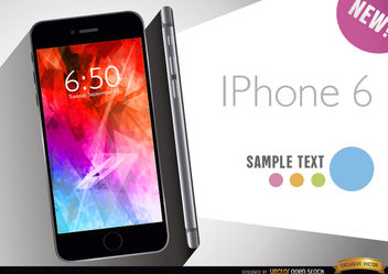 iPhone 6 promo - vector gratuit #165723