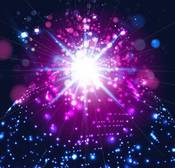 Sparkles with Shiny Lines on Dark Background - Free vector #165783