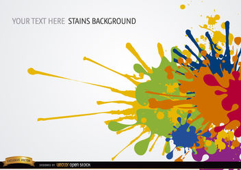 Colorful paint spots background - vector #165793 gratis