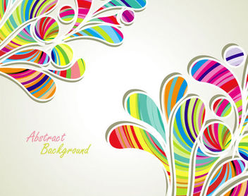 Colorful Stripy Splashed Swirls Background - Free vector #165873