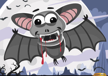 Halloween bloody bats night wallpaper - vector gratuit #165883
