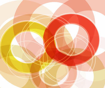 Abstract Overlapping Multicolor Circular Background - vector gratuit #165903